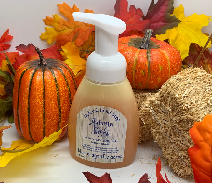 Foaming Hand Soap  - Autumn Night | Natural Hand Wash - Blue Dragonfly Acres LLC