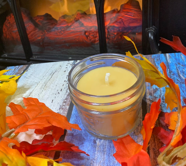 Fireside Beeswax Candle - Blue Dragonfly Acres LLC