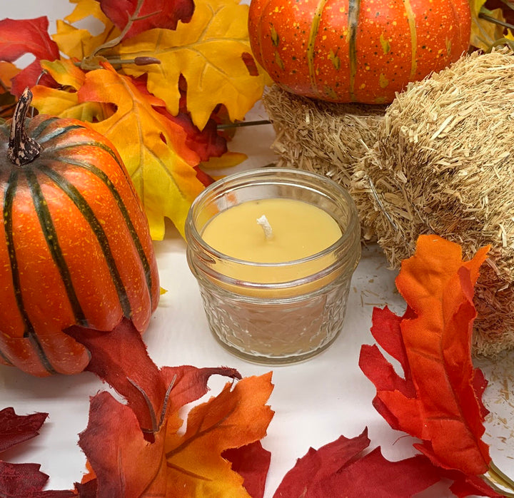 Autumn Night Beeswax Candle - Blue Dragonfly Acres LLC