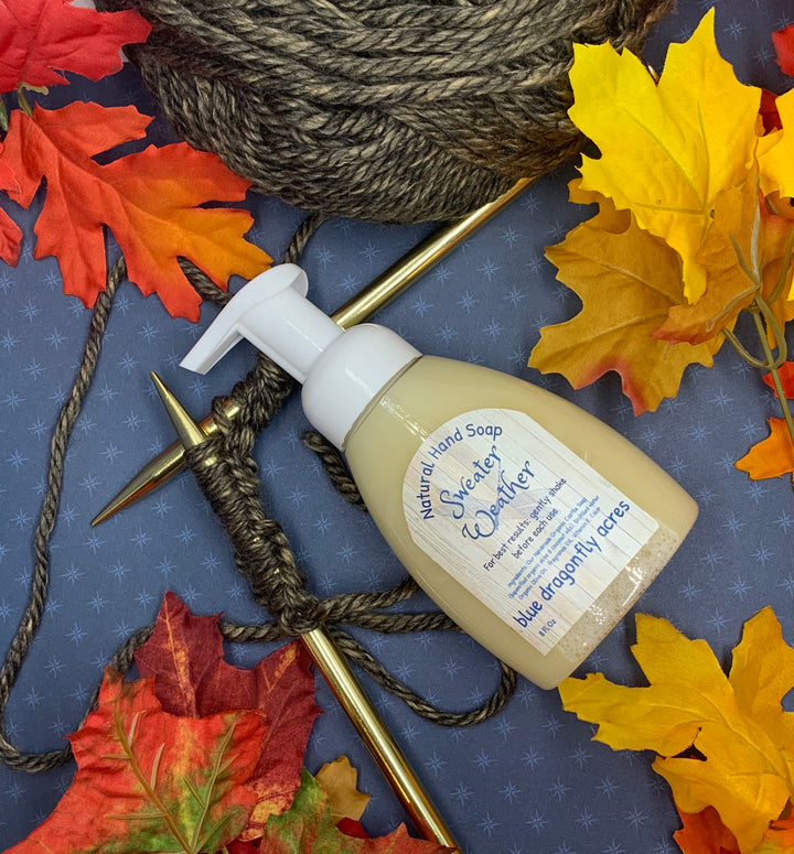 Sweater Weather Foaming Hand Soap | Natural Hand Wash - Blue Dragonfly Acres LLC