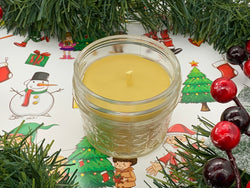 Christmas Party Beeswax Candle - Christmas Candle - Blue Dragonfly Acres LLC