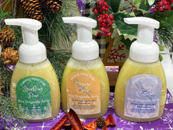 Winter Foaming Hand Soap Gift Set - Sparkling Pine Hand Wash - Orange Clove Hand Soap - Cozy Cottage Foaming Hand Wash - Blue Dragonfly Acres LLC