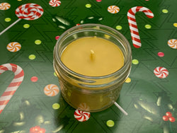 Peppermint Cookie Beeswax Candles - Christmas Candle - Blue Dragonfly Acres LLC