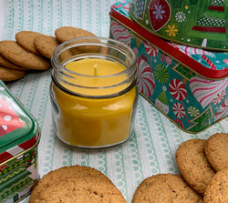Santa's Bakery Beeswax Candle - Christmas Candle - Blue Dragonfly Acres LLC