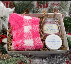 Take Care of Your Feet Gift Box for Holiday - Spa Gift Box- Rose Gift Box For Her - Blue Dragonfly Acres LLC