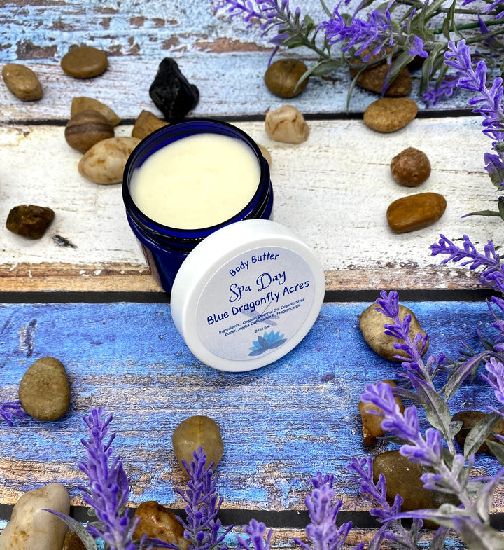Spa Day Body Butter - Vegan Natural Body Lotion - Whipped Shea Butter - Coconut Butter Body Butter - Blue Dragonfly Acres LLC