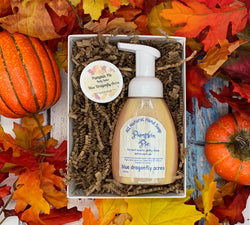 Pumpkin Pie Hand Soap Gift Set - Blue Dragonfly Acres LLC