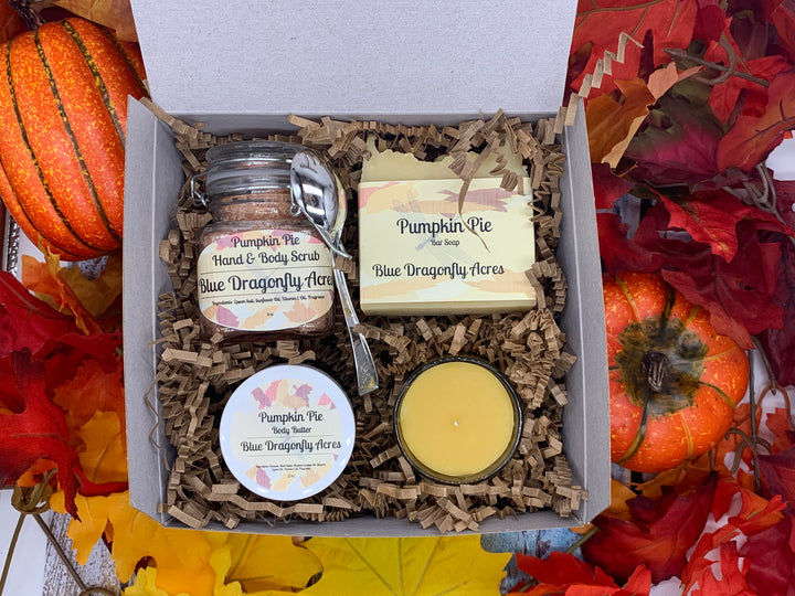 Pumpkin Pie Gift Box - Blue Dragonfly Acres LLC