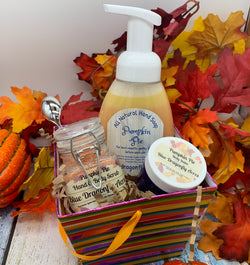 Pumpkin Pie Hand Care Gift Basket - Blue Dragonfly Acres LLC