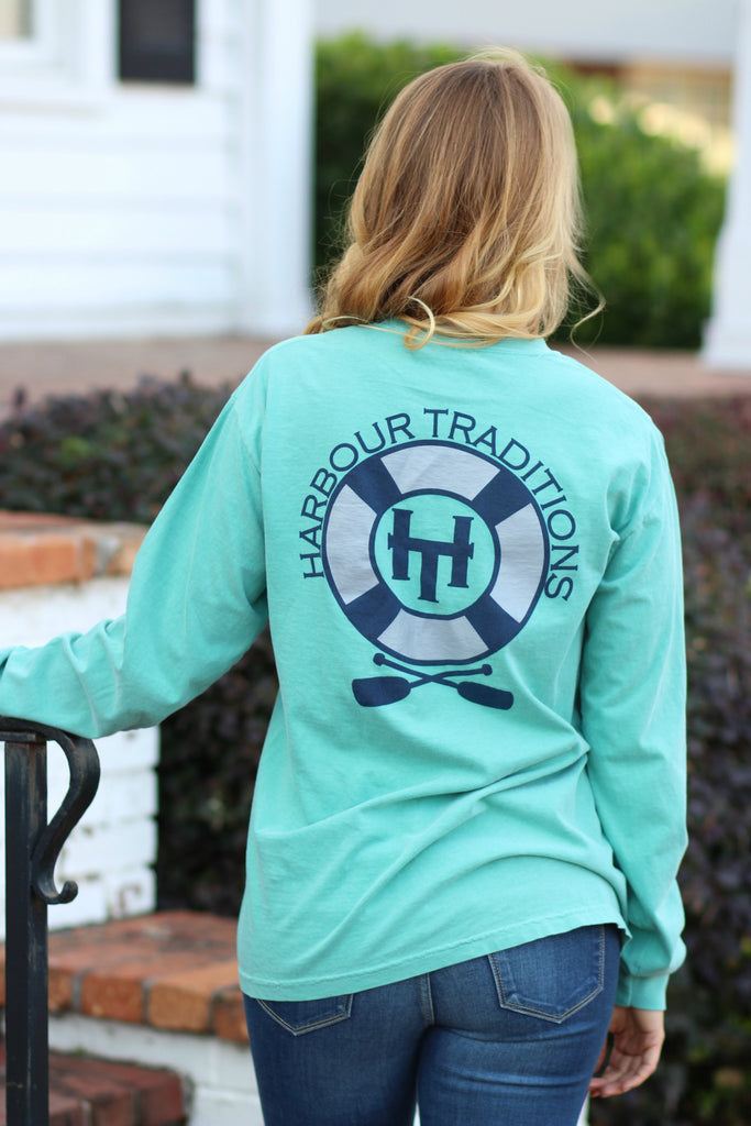 Floating and Rowing- L/S -Seafoam