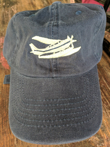 HT-unstructured Adjustable buckle hat-Navy
