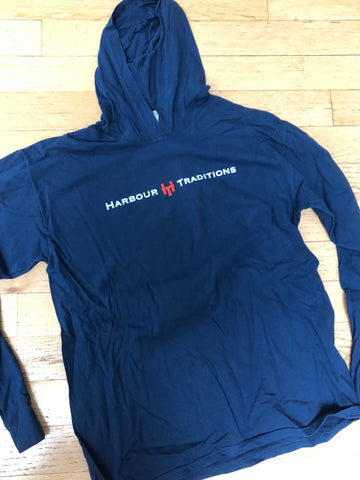 HT Hooded L/S T-Shirt-Navy