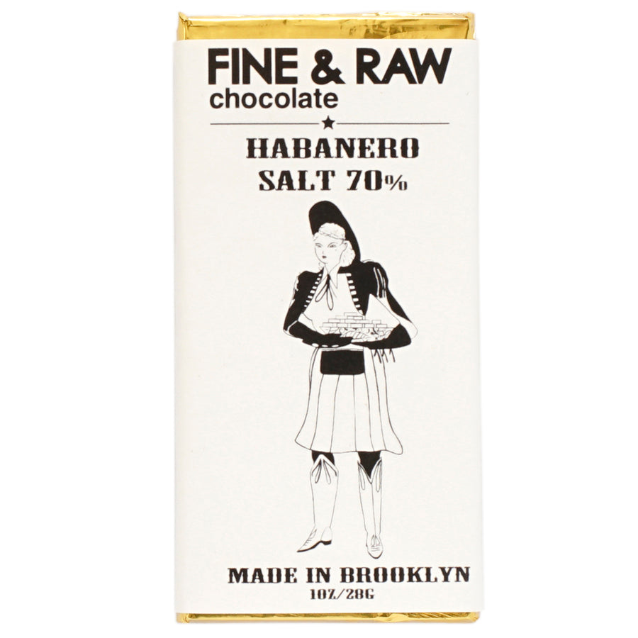 Fine and Raw Chocolate Habanero salt bar - Brooklyn bonnie collection