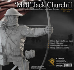 'Mad' Jack Churchill, British Expeditionary Force, France-Manchester Regiment