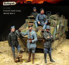 S1120 French Tank Crew World War I