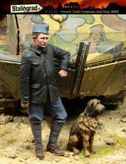 French Tank Crewman and Dog WWI