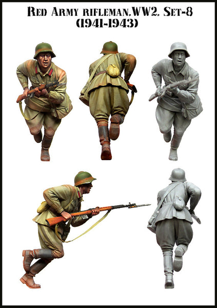 Red Army Rifleman. WW2, Set-8 (1941-43)