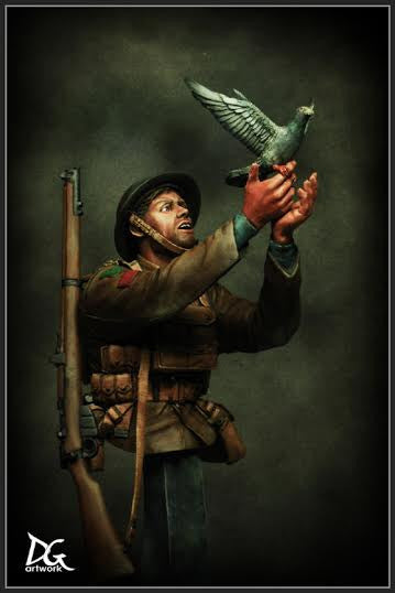 War Pigeon, British army Great war series, Duke of Wellington's Regiment
