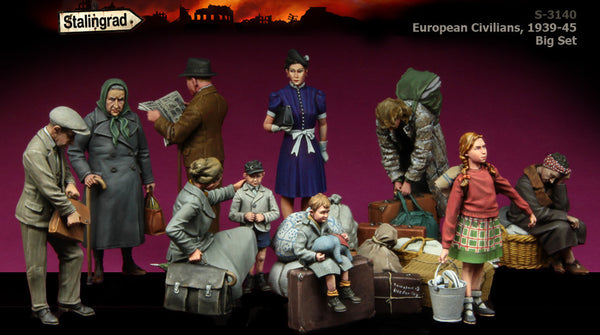 S3140 European Civilians, 1939-45 Big Set