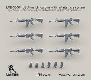 US Army M4 Carbine with Rail Interface System