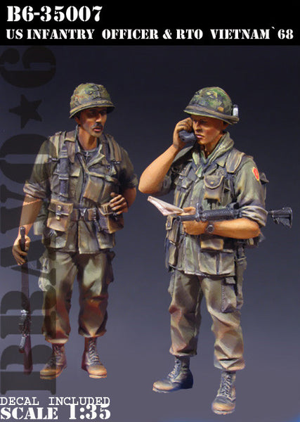 US Infantry Officer & RTO Vietnam '68