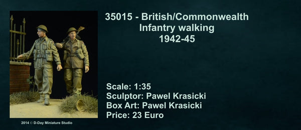British/ Commonwealth Infantry Walking 1942-45