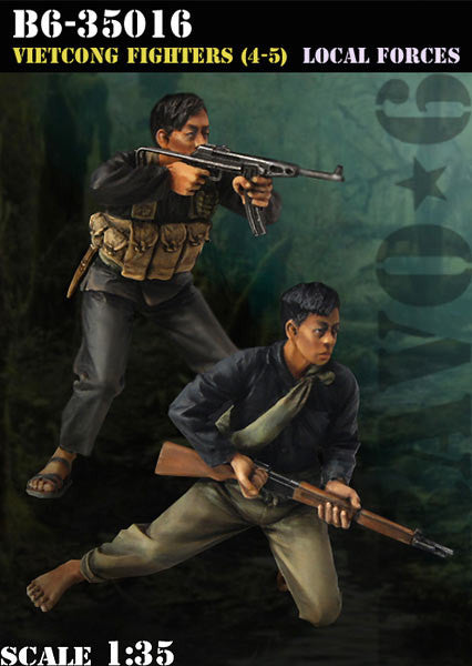 Vietcong Fighters 4-5 Local Forces