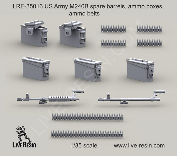 M240 spare barrels and ammunition