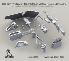 M240B and H24-6 Military Machine Gun Mount