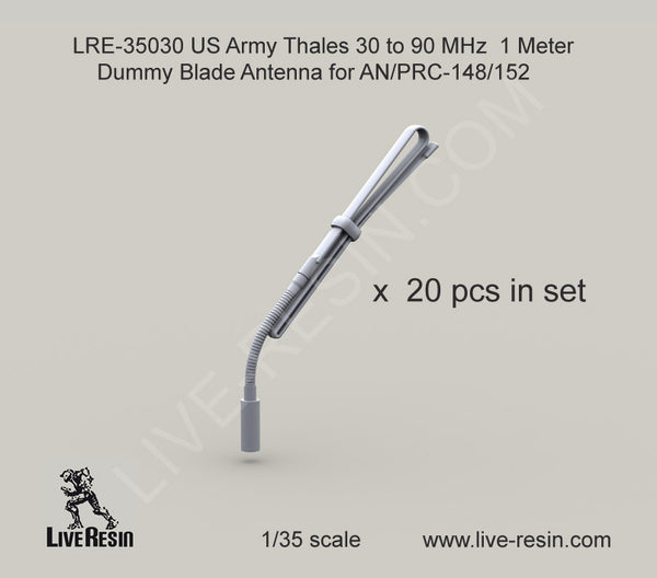 Thales 30 to 90 MHz 1 Meter Dummy Blade Antenna for AN/PRC-148/152