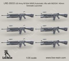 US Army M16A4 MWS Automatic rifle with M203A1 40mm Grenade Launcher