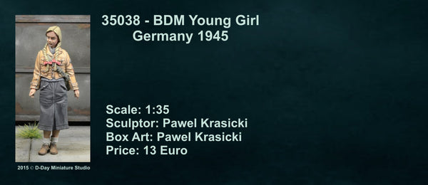BDM Young Girl Germany 1945