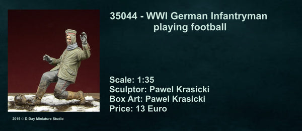 WWI German Infantryman playing football