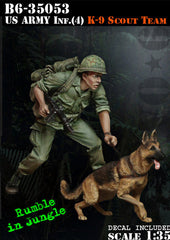 US Army Infantry 4 K-9