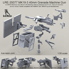 MK19-3 40mm Grenade Machine Gun, S.A.G. shield