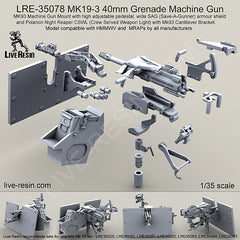 MK19-3 40mm Grenade Machine Gun, SAG, CSWL, Cantilever Bracket