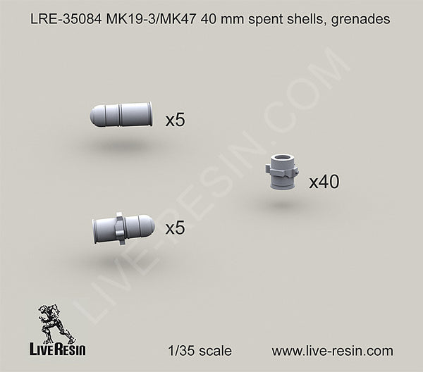 40mm Grenades for belts and spent casings