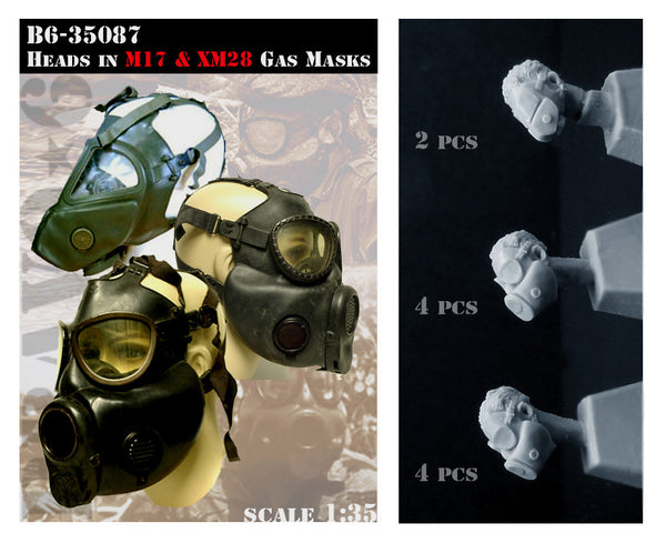 B635087 M17 & XM28 Gast Mask head set