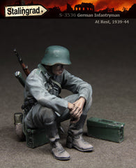 German Infantryman at rest, 1939-44