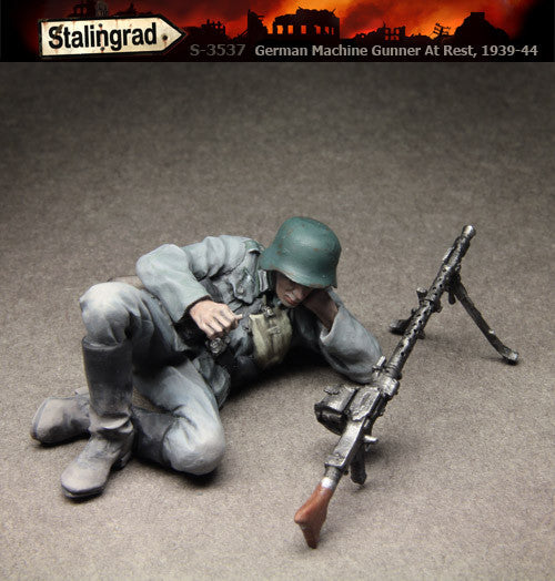 German Machine Gunner  At Rest, 1939-44