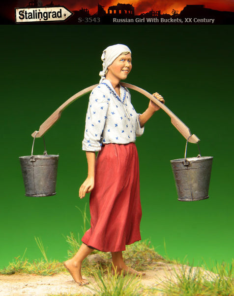 Russian Girl with buckets, XX Century