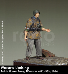 Warsaw Uprising, Polish Home Army, Rifleman w/Kar98k, 1944