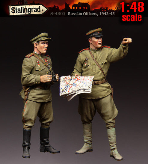 1:48 scale Russian Officers