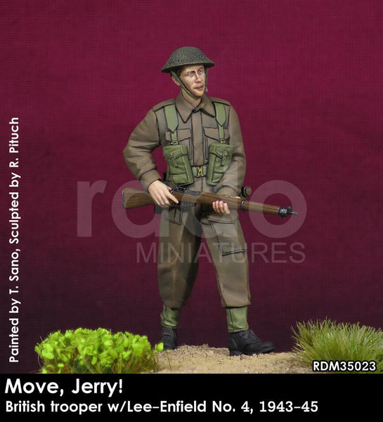 Move, Jerry! British Trooper w/Lee-Enfield No. 4, 1944-45