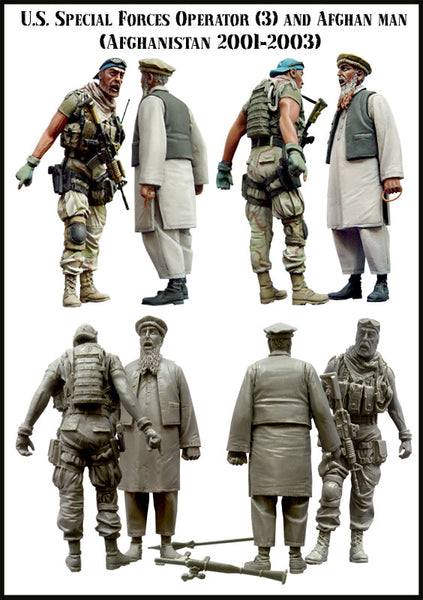 US Special Forces Operator and Afghan Man, Set 3 (Afghanistan 2001-2003)