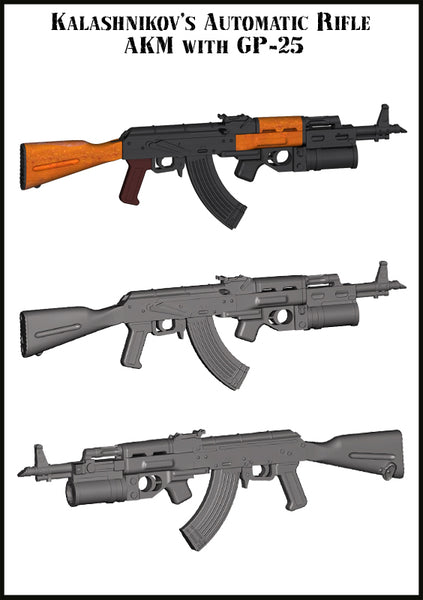 EMA35019 Kalashnikov's Automatic Rifle (AKM With GP25)