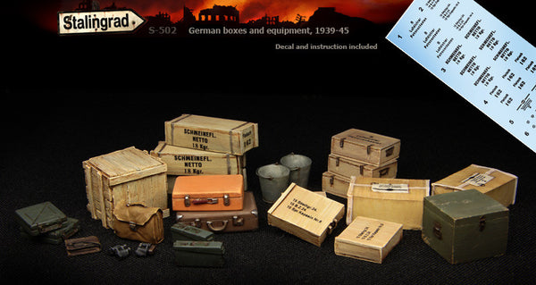 German Boxes and equipment, 1939-45