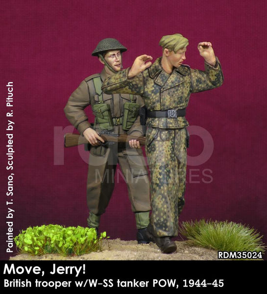 Move, Jerry! British Trooper w/W-SS Tanker POW, 1944-45