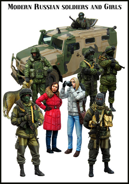 Modern Russian Soldiers and Girls BIG SET