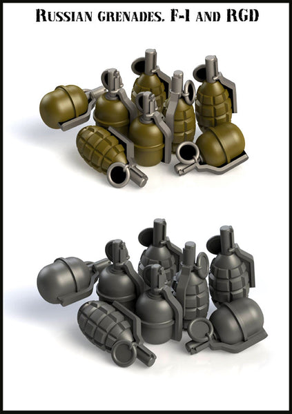 Russian Grenades, F-1 and RGD